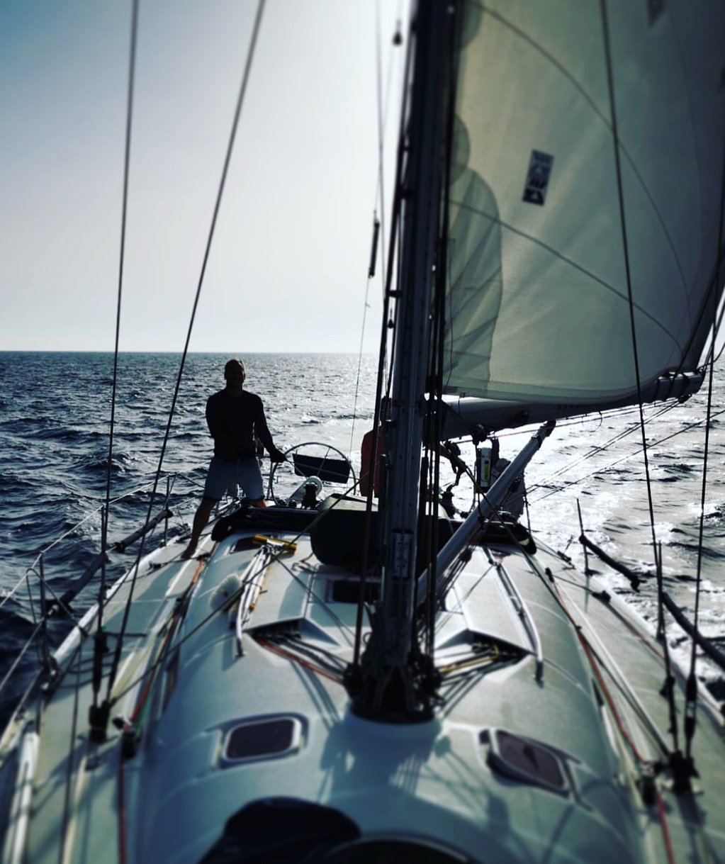 Yacht Racing on a boat from Gibraltar
